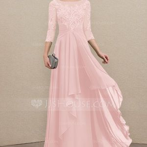 JJ'S HOUSE BLUSHING PINK MOTHER OF THE BRIDE DRESS